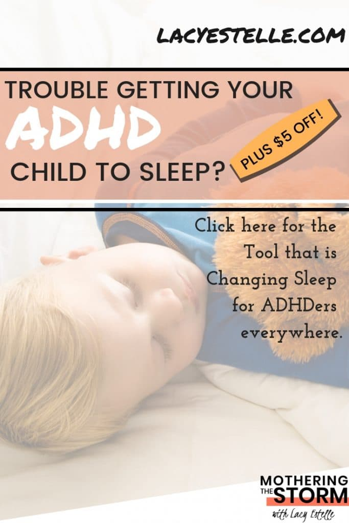 ADHD Sleep, ADHD lullaby, Fall asleep faster with ADHD, Lacy Estelle, Mothering the Storm