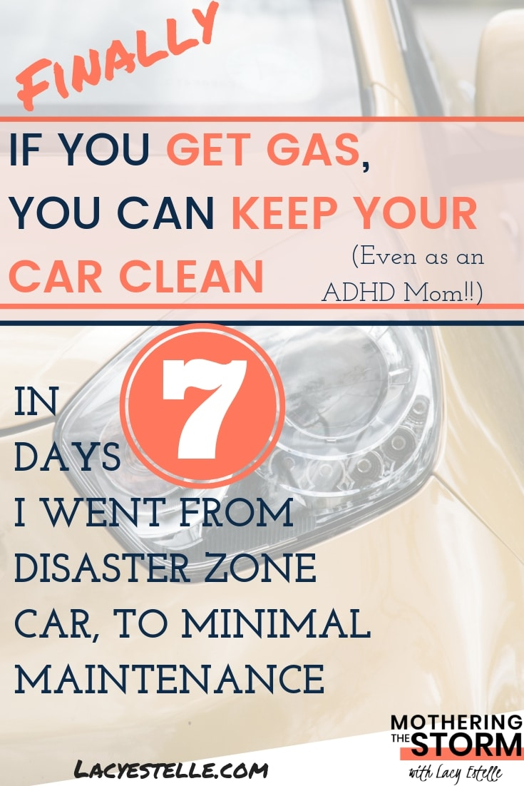 How to keep your car clean as an ADHD mom, ADHD Parent. How I finally learned how to maintain my car cleanliness. Post contains Affiliate Links, please see disclaimer for all details.