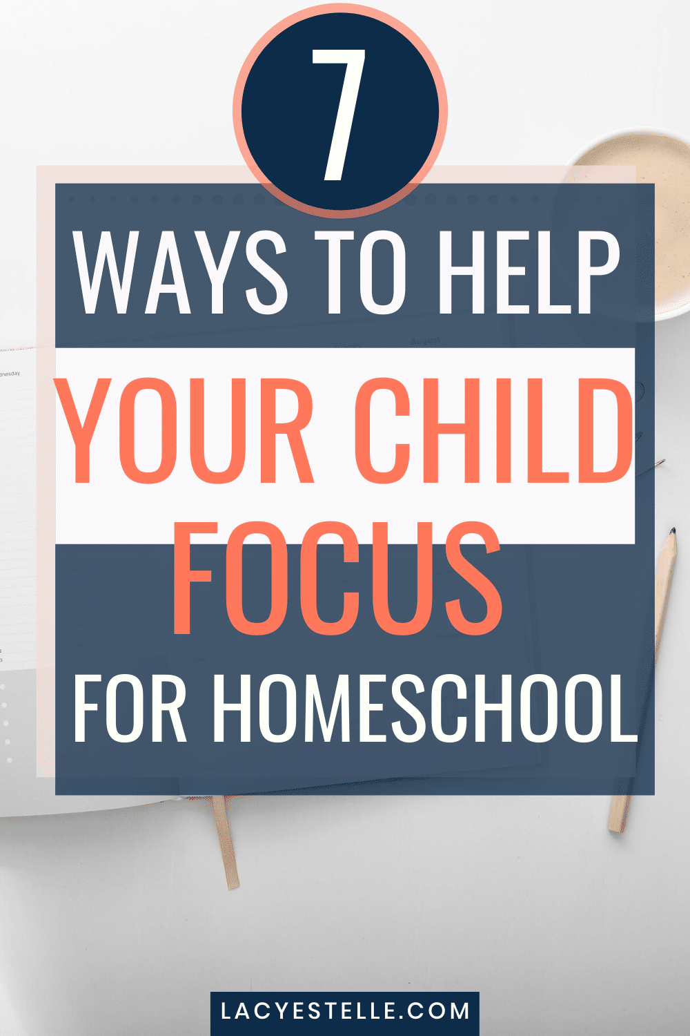 These 7 tips to help your ADHD Child focus during home school. It's not always easy to be in charge of education your different learner but these strategies work well.